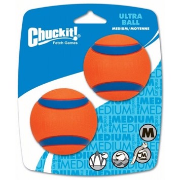 Chuckit Ultra Ball medium 6,5 cm 2 stk. orange