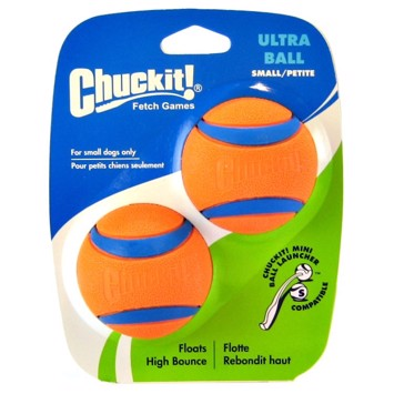 Chuckit Ultra Ball small 5 cm 2 stk. orange