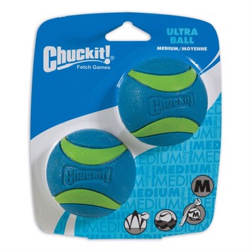 Chuckit Ultra Ball medium 6,5 cm 2 stk. blå