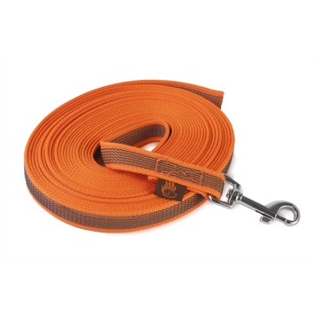 Firedog sporline med gummigreb 10 m - Orange