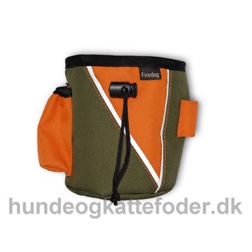 Taske til godbidder Firedog khaki/orange small